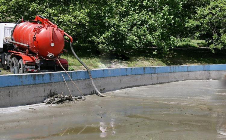 Откачка илового осадка в водоемах и бассейнах